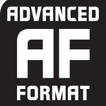 Advanced Format logo in black and white
